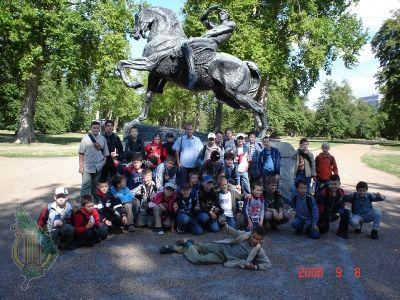 Przy pomniku w Hyde Park